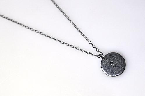 "Kæde til ""Bubble Tags"" 45-90cm, Oxyderet Sølv."