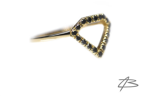"Limited Edition ""Black Diamond"" Ring i 14Kt Guld"