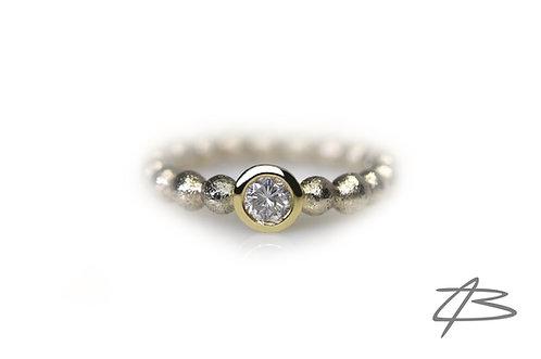 Bubbles & Diamonds i 14kt Alm. & Hvidguld m.0,25ct