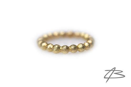 Bubbles & Diamonds ring, 14kt Alm.guld