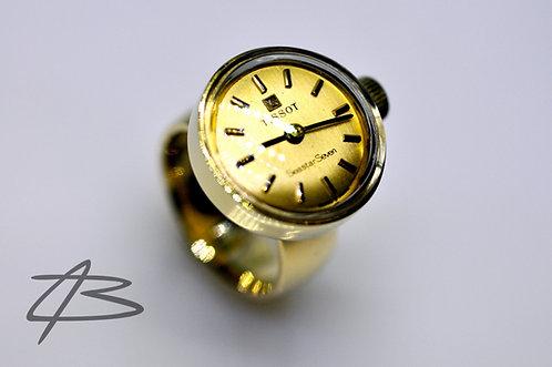 Tissot ur-ring i 14Kt Guld