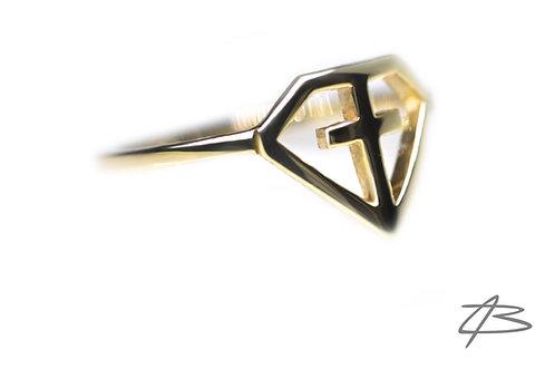 "Limited Edition ""Faith Diamond"" ring i 14Kt Guld."
