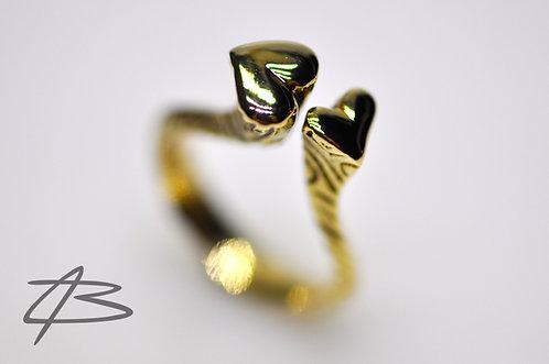 Unik dobbelt hjerte-ring 14Kt Guld