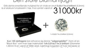 """Slutspurt i """"Den Store Diamantjagt""""!!! Er det dig der vinder for ialt 31000kr..."""