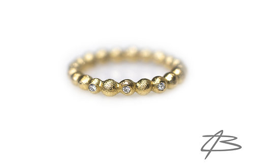 Bubbles & Diamonds, 14kt guld  m. 3 x brillanter
