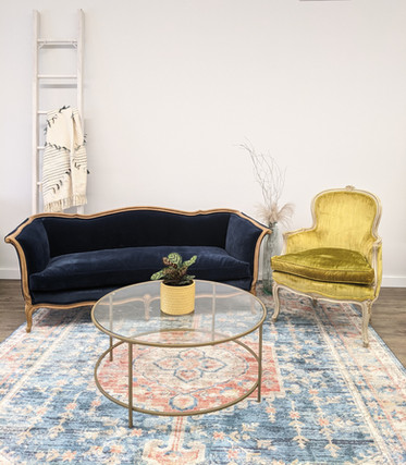 Brook + Vintage Yellow Chair