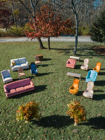 Mismatched Ceremony Seating