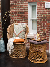 Rattan Chair + Side Table