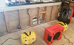 water damage remediation dry out in drywall sarasota florida