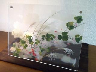 夜長の愉しみ~本と手紙~ カミヤ・ハセ(T・Hasegawa)貼り絵・ボトルアート作品展