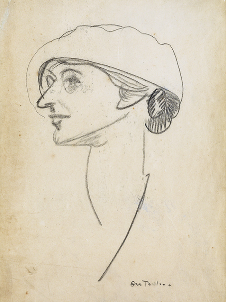 Florence Tuttle Hubbard: A George Bellows Portrait Sketch