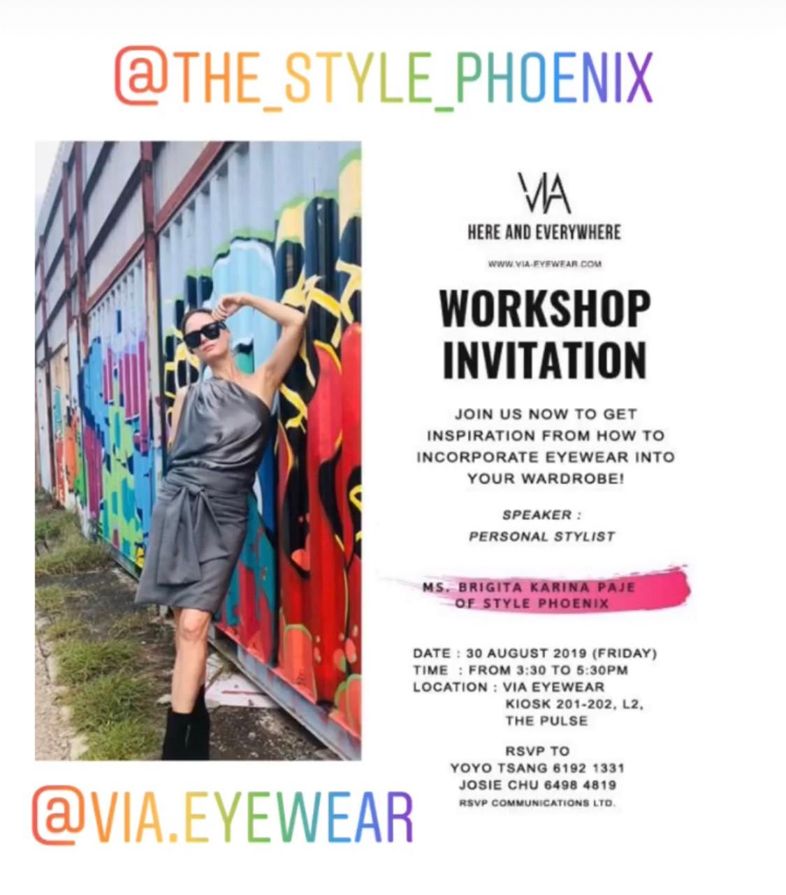VIA Eyewear Workshop August 2019