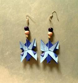 spiky earrings in blue