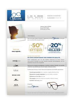 Le mailing adressé Opticcom