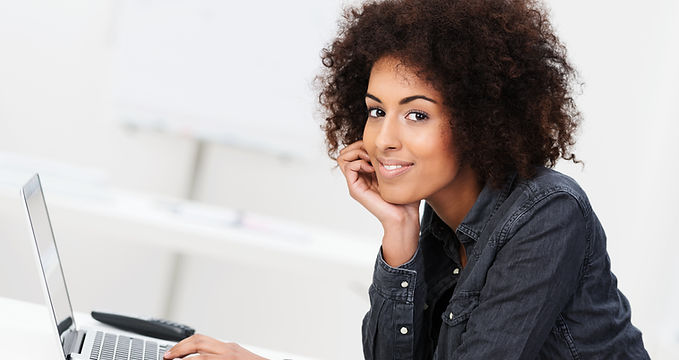 Woman thinking about career change