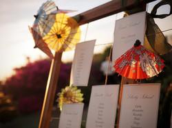 Tableau de mariage ombrellini