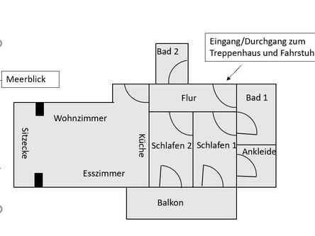 Grundriss des Appartements