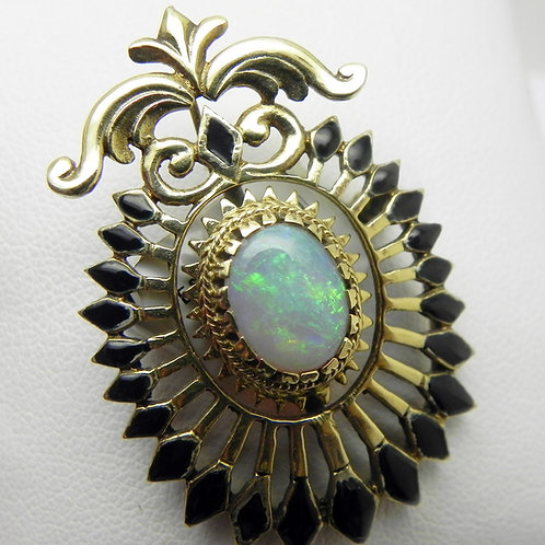 14k Opal Brooch [ESTATE]