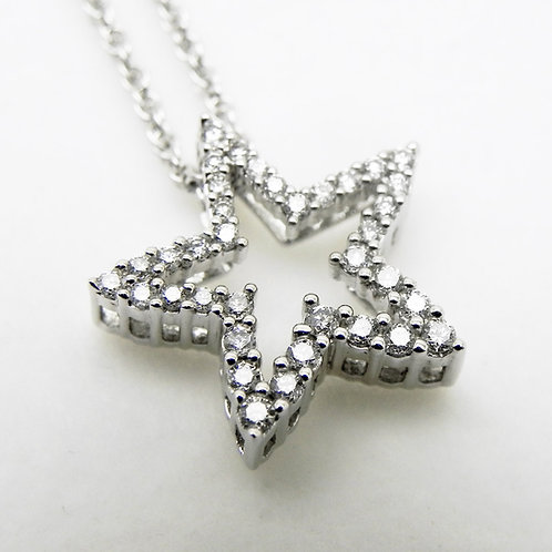 14k Diamond Star Pendant