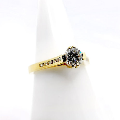 18k .63cttw Diamond Engagement Ring