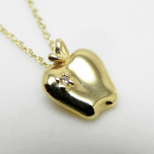 14k Apple Pendant