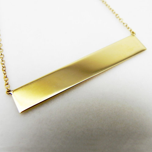 14k Bar Necklace