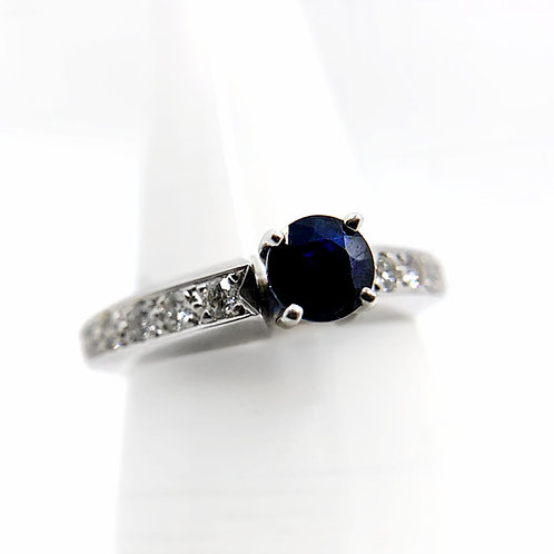 14k Sapphire Engagement Ring
