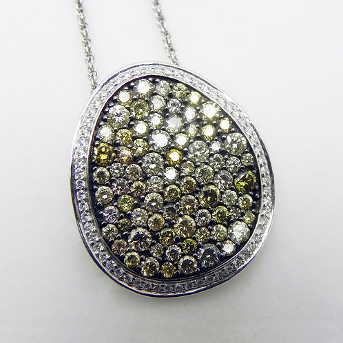 14k Multi-Color Diamond Pendant