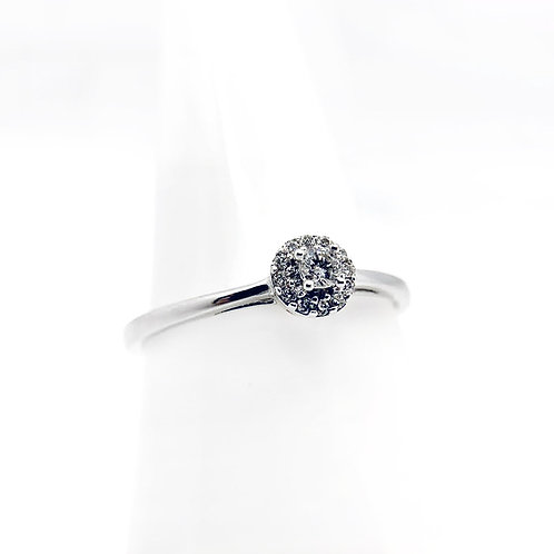 14k .13cttw Diamond Engagement Ring
