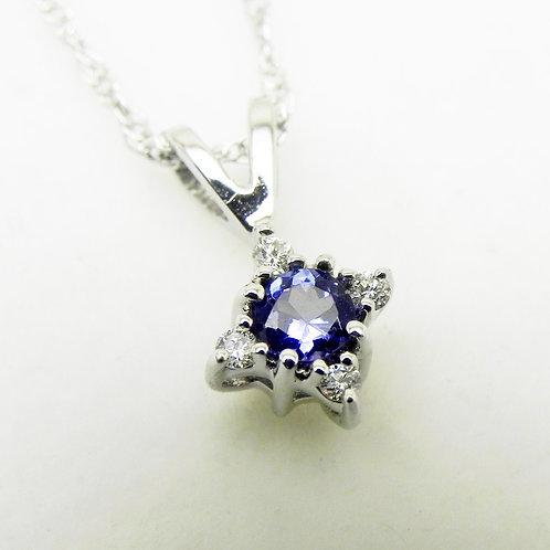14k Tanzanite and Diamond Star Pendant