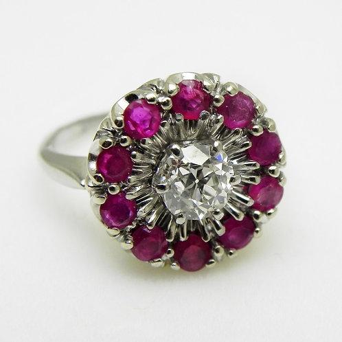 14k Diamond & Ruby Ring [VINTAGE]