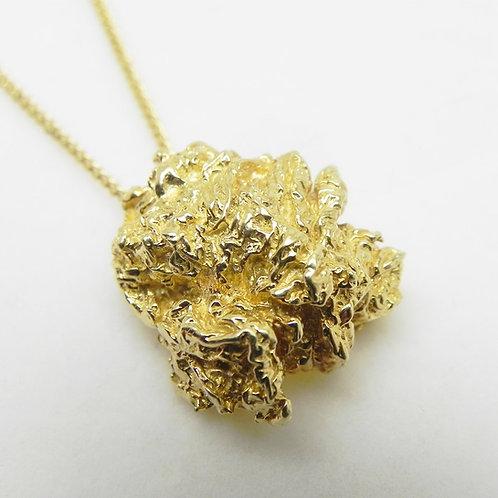 14k Gold Nugget Pendant