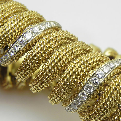 18k Gold and Diamond Bracelet [ESTATE]