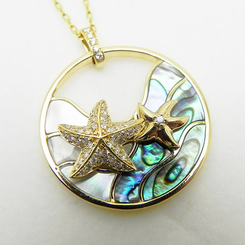 "14k Diamond ""Starfish"" Pendant"