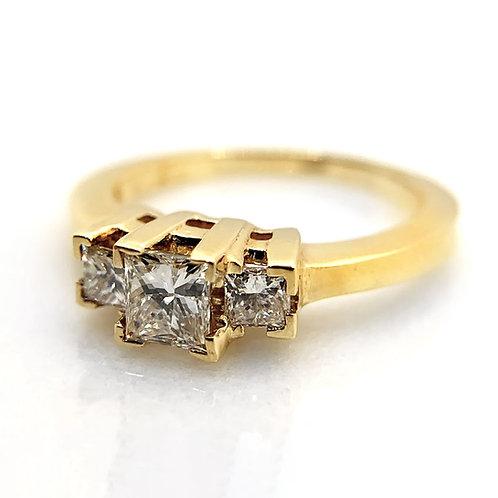 14k .79cttw Diamond Engagement Ring