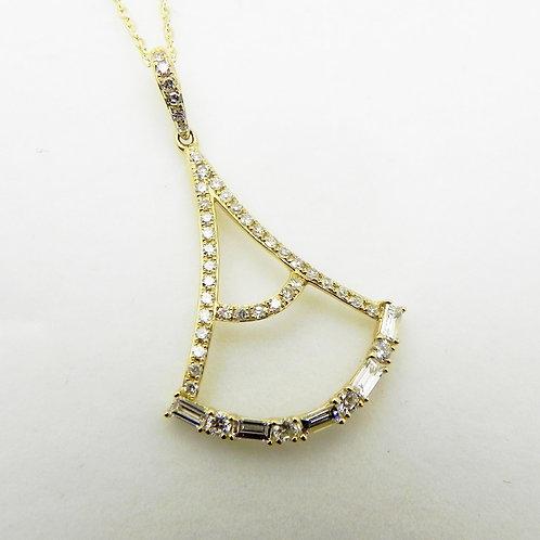 14k Geometric Diamond Pendant