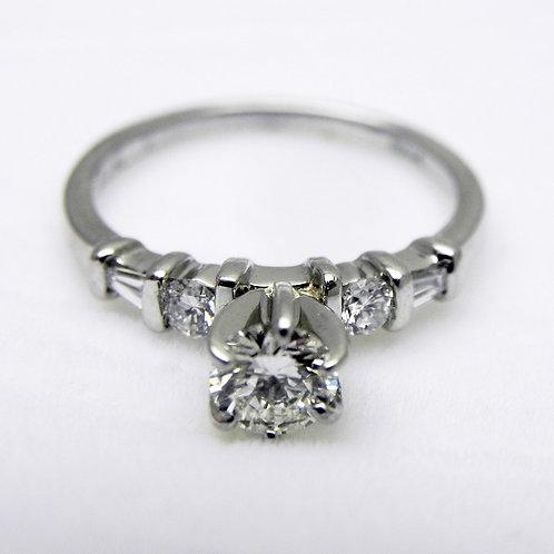 Platinum Diamond Engagement Ring [ESTATE]