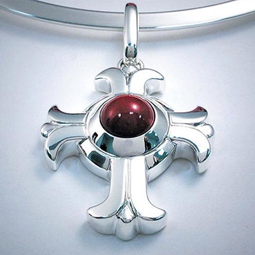French Fleur-de-Lis Cross Pendant
