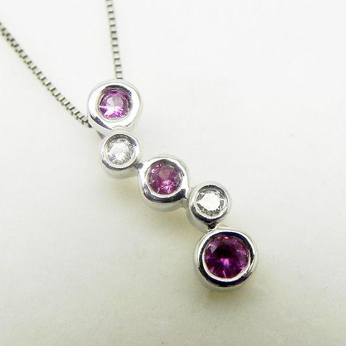 14k Pink Sapphire Pendant