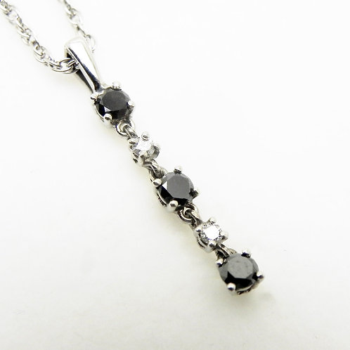 14k Black Diamond Pendant