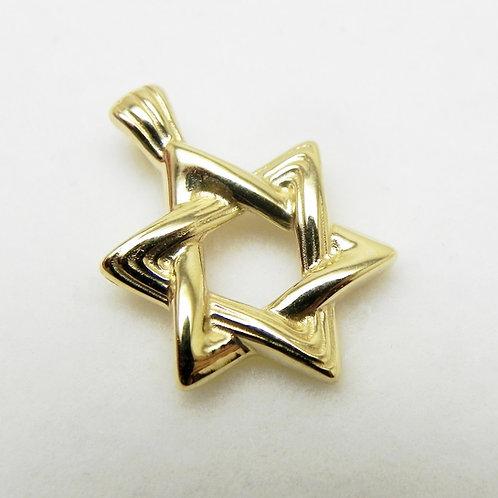 14k Petite Star of David Pendant
