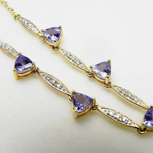 14k Tanzanite and Diamond Necklace