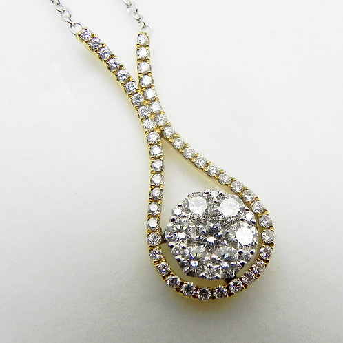 18k Diamond Cluster Pendant