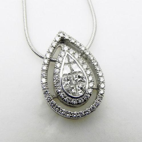 18k Diamond Pear-Shaped Pendant