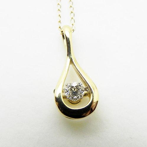 14k Dancing Diamond Pendant