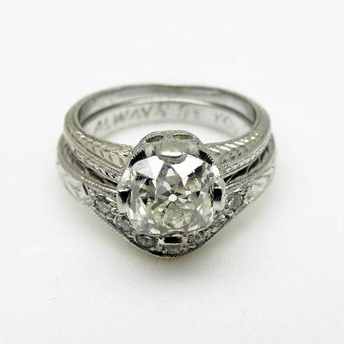Platinum Diamond Engagement Set [VINTAGE]