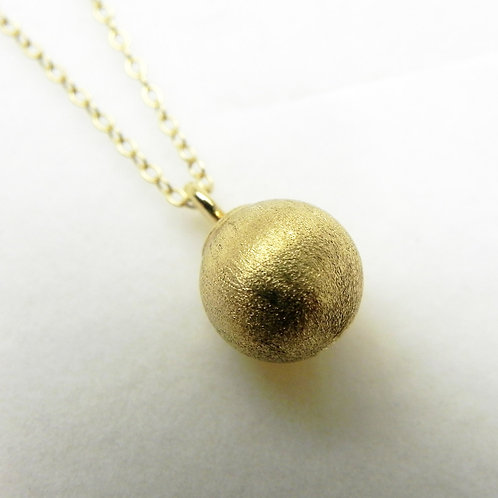 14k Ball Pendant (Satin)