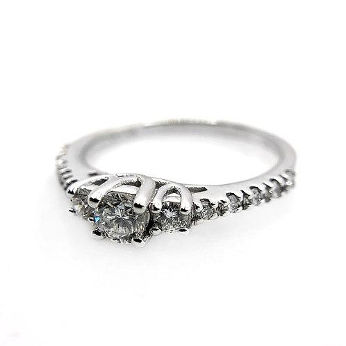 14k .52cttw Diamond Engagement Ring