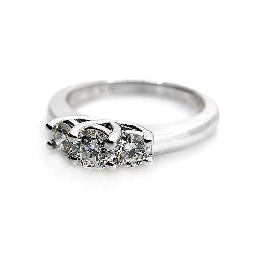 14k .76cttw Diamond Engagement Ring
