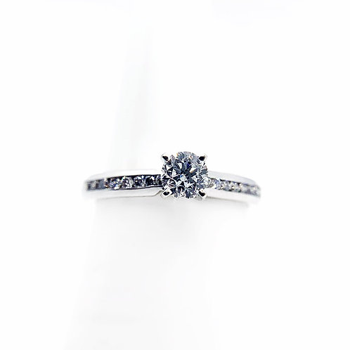 14k .64cttw Diamond Engagement Ring